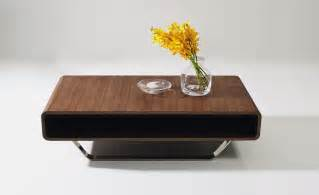 contemporary walnut and chrome coffee table los angeles