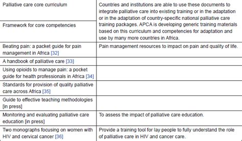 palliative care plan template the current situation in education and of health