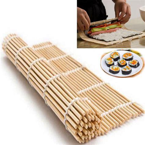 Sushi Roll Mat Penggulung Sushi cheap sushi tools diy sushi rolling roller mat maker bamboo material home kitchen tools