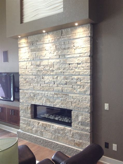 is the fireplace surround ledger stone if so what color