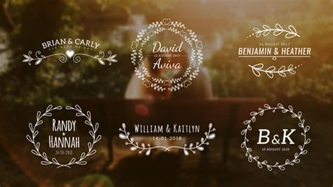 Wedding Titles Special Events After Effects Templates F5 Design Com Wedding Title Templates