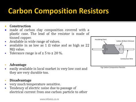 carbon composition resistor disadvantages introduction to electronics ppt