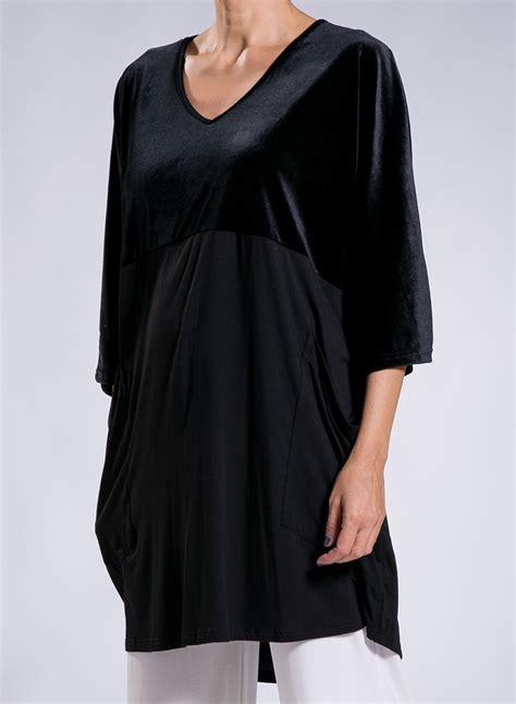 Blouse Square blouse square pockets 50 50 velvet
