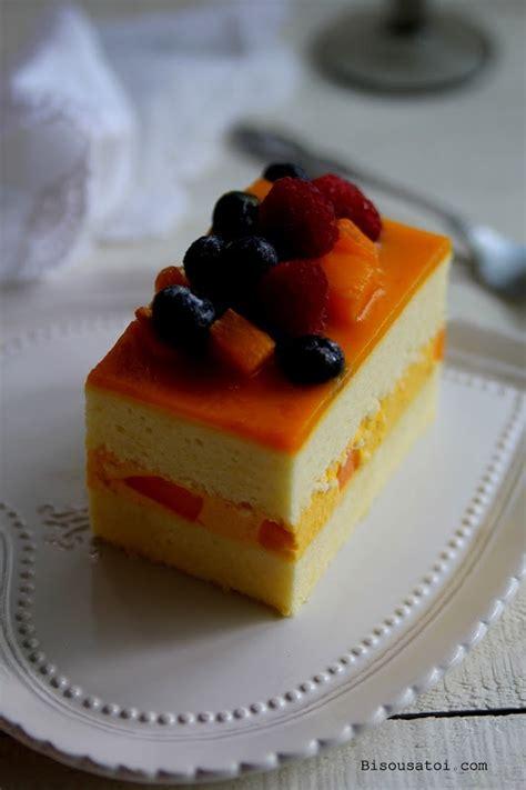 bisous 192 toi mango mousse cake bake pinterest