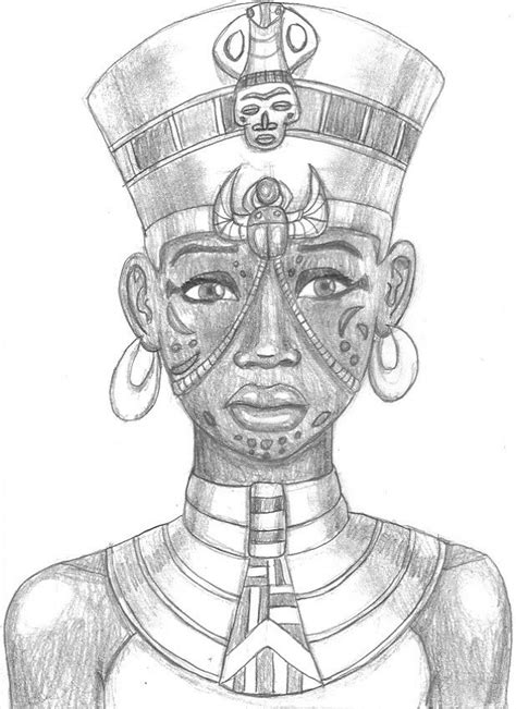 egyptian king and queen tattoo graphite drawing of an who s not