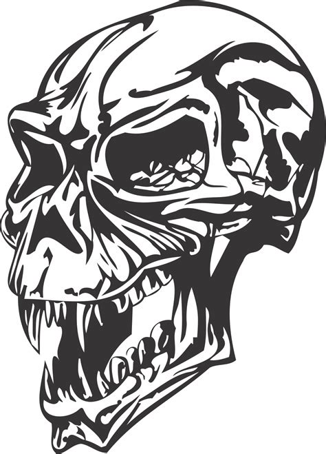 Angry skull DXF File Free Download - 3axis.co