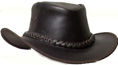 Cowhide Cowboy Hats - genuine cowhide leather western cowboy hat brown