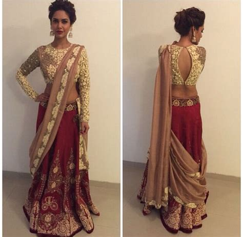 how to drape a lehenga choli lehenga dupatta draping styles 6 outfit4girls com