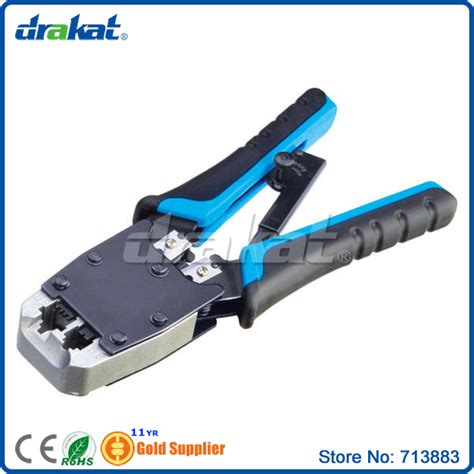 Crimping Tool Talons Cat 6 Ht2810r network and telephone cable end sleeve crimping tool for