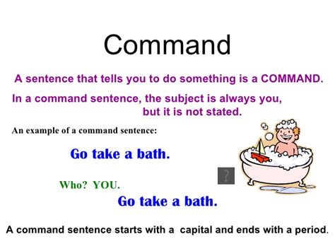 exle of command sentences worksheet loving commands and advices