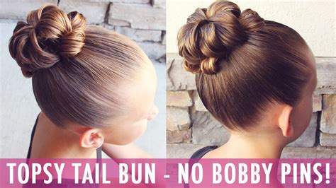 easy hairstyles without bobby pins topsy tail bun no way a bun with no bobby pins yes