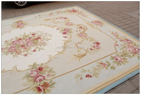 8x10 light blue aubusson rug shabby pink chic
