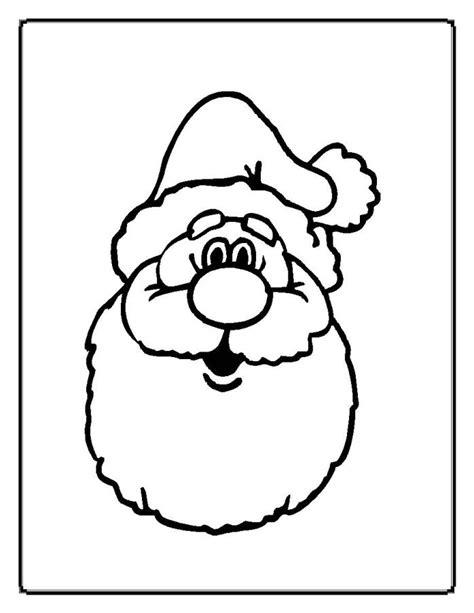 santa face template az coloring pages