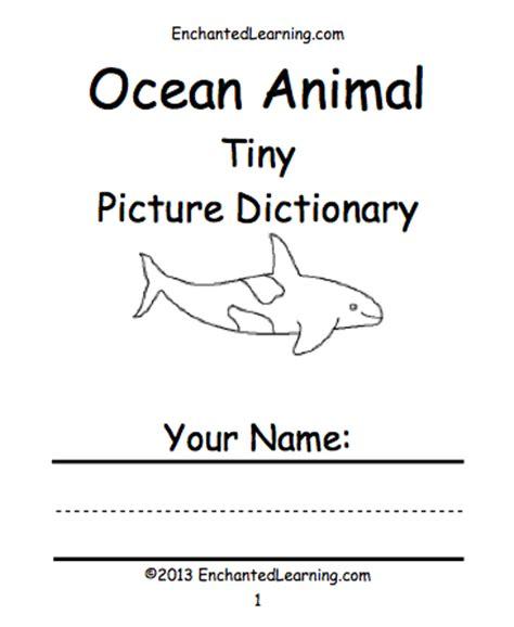 printable animal books kindergarten oceans and seas printable books enchantedlearning com