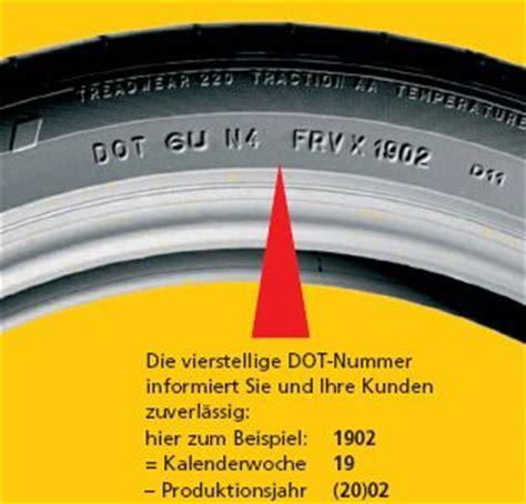 Motorradreifen Produktionsdatum by Reifenalter Dot Das Alter Autoreifen