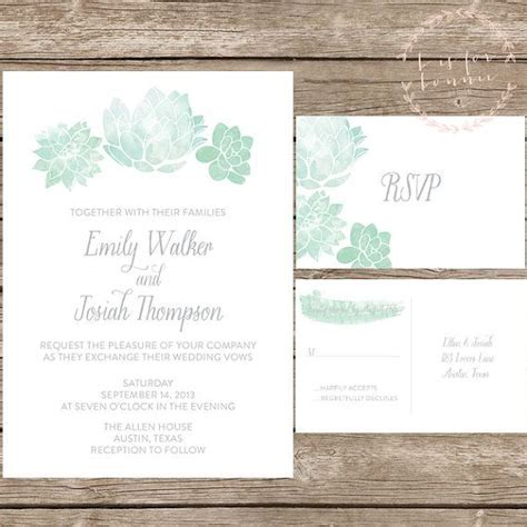 Best 25  Succulent wedding invitations ideas on Pinterest