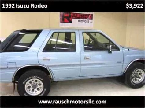 how cars engines work 1992 isuzu rodeo user handbook 1992 isuzu rodeo used cars parker co youtube