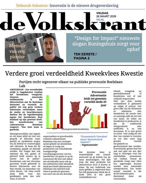 layout krantenartikel verdere groei verdeeldheid kweekvlees kwestie