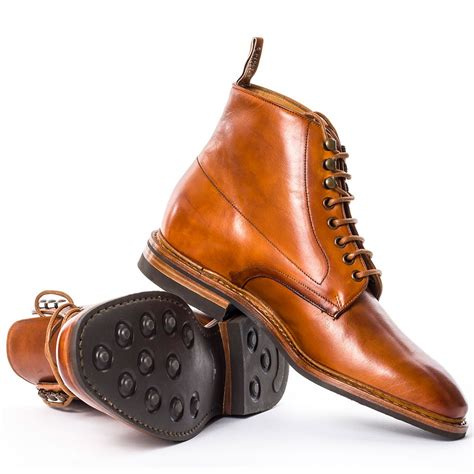 rm williams boots mens r m williams chiseltoe mens boots in cognac