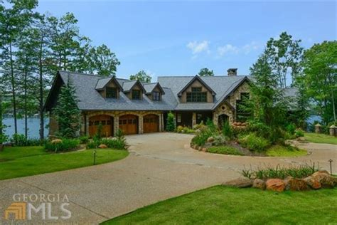 luxury homes brton magnificent estate home on lake burton luxury