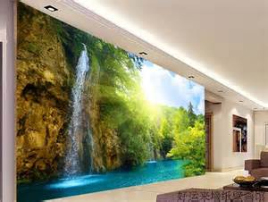 large tv wall mural beautiful scenery wallpaper 3d blue sky and sea scenery pattern pvc waterproof and