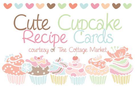 Cupcake Recipe Card Template by Cupcake Recipe Cards And More All Free Cupcake Recipes