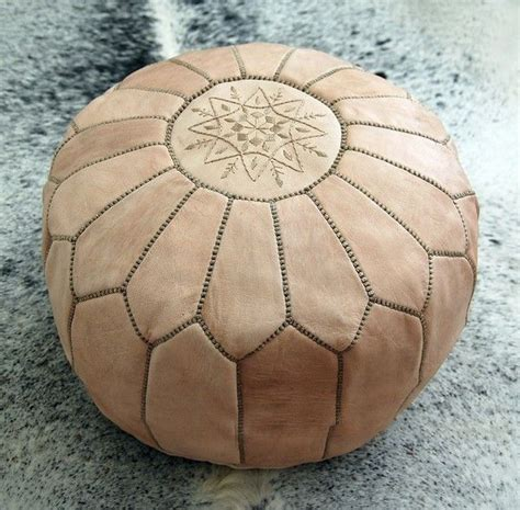 Handmade Pouffe - moroccan leather pouffe for the home