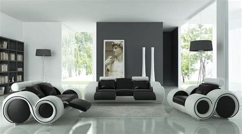 White Living Room Chairs Home Design 81 Mesmerizing Black And White Living Room Furnitures