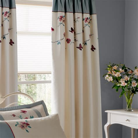 butterfly pleat curtains catherine lansfield butterfly blossom pencil pleat
