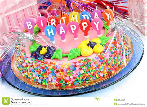 Happy New Year Cake Decoration by Colorful Happy Birthday Cake Stock Photography Image