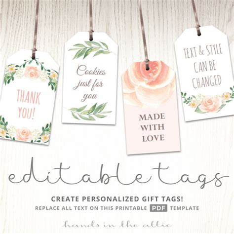 Bridal Shower Label Templates by Printable Baby Shower Labels Editable Gift Tags Bridal