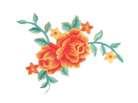 Motif Flower neve embroidered flower motif on saf