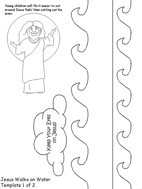 jesus walks on water craft for jesus calms the sea coloring page coloring home