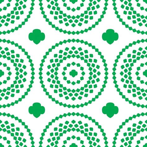 scout trefoil template scout trefoil circle background pattern