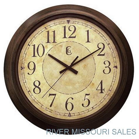 wall watch wall clock large 14 quot modern antique style brown beige
