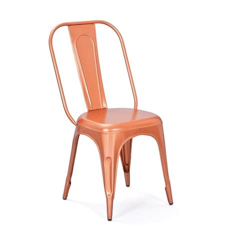 aix stackable metal dining chair in copper for 163 89 95 go