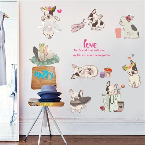 bathroom stickers for kids fundecor diy dogs wall stickers for kids rooms baby
