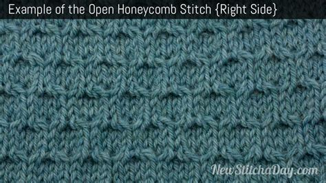 how to knit honeycomb stitch the open honeycomb stitch knitting stitch 232 new