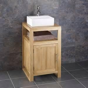 Sink Vanity Unit Freestanding 46cm X 46cm Freestanding Solid Oak Bathroom Cabinet Sink
