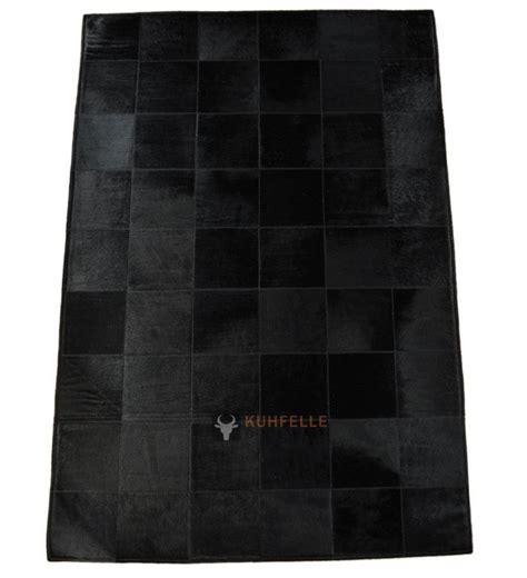 schwarzer fell teppich exklusiver kuhfell teppich schwarz 180 x 120 cm bei