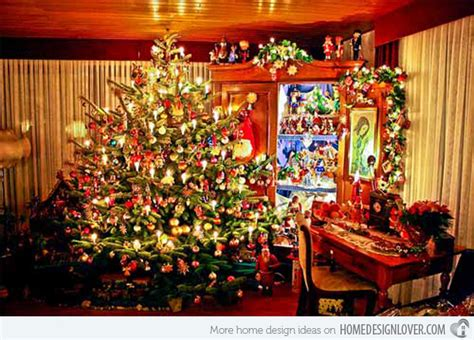 decorated homes photos 15 christmas decorated living rooms home design lover