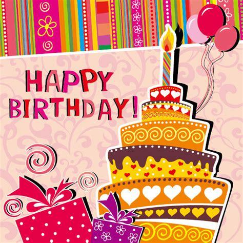 imagenes happy birthday boss フリー素材 誕生日のメッセージカードのベクターイラストテンプレート
