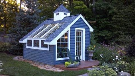 greenhouse garden shed building project plans size