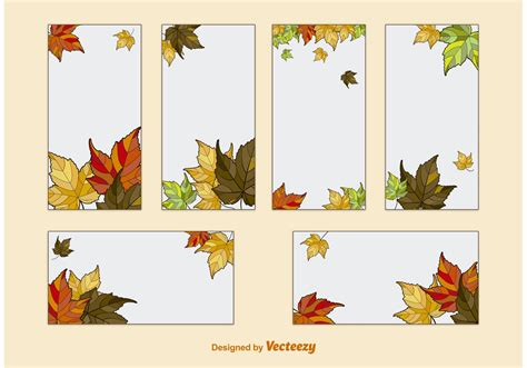 fall card template autumn leaves card template vectors free vector