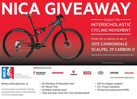 National Giveaway Association - mountain bike action magazine national interscholastic cycling association s giveaway