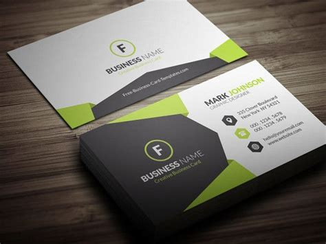 business card template pack green business card psd template pack images card design