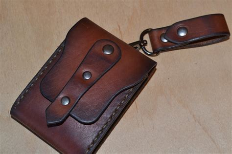 Leather Handmade - leather wallet wallet leather card holder by sergklim