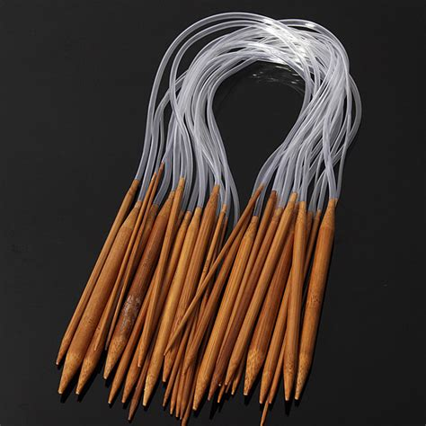 what size knitting needles for a scarf 18 sizes 60cm carbonized bamboo circular knitting needles