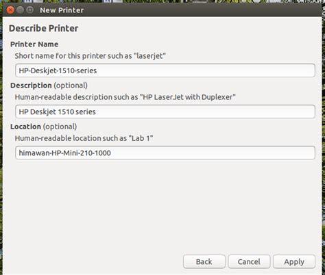 tutorial install ubuntu desktop tutorial install dan setting printer di ubuntu desktop