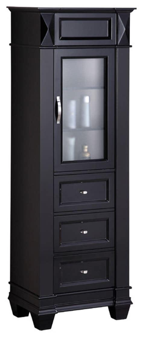 design element cab007 hudson 65 quot espresso linen cabinet